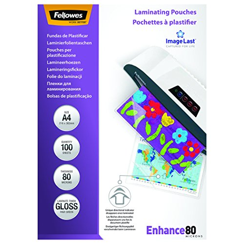 ? Chollazo Fellowes 53061 – Pack de 100 fundas para plastificar,